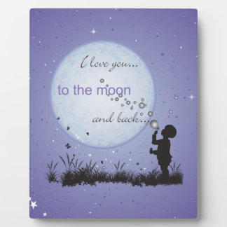 I Love You to the Moon and Back-Unique Gifts Plaque