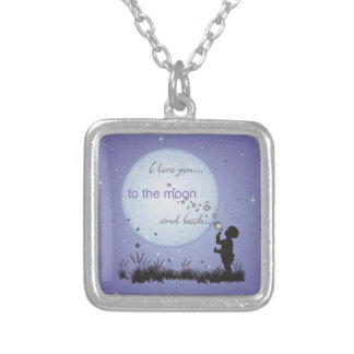I Love You to the Moon and Back-Unique Gifts Silver Plated Necklace