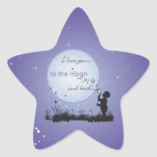 I Love You to the Moon and Back-Unique Gifts Star Sticker