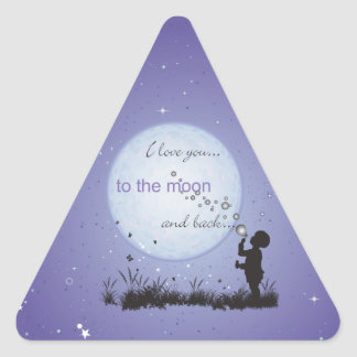 I Love You to the Moon and Back-Unique Gifts Sticker
