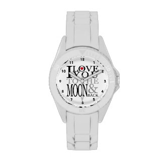 I Love You To The Moon And Back Wristwatch