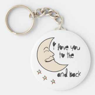 I love you to the moon and back whimsical keychain