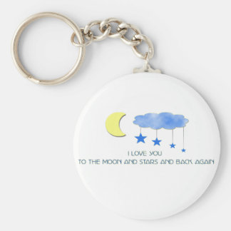 I love you to the moon and stars... keychain