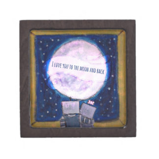 I Love You To The Moon & Back Robots Gift Boxes