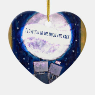 I Love You To The Moon & Back Robots Ornament