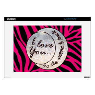 "I Love You to the Moon & Back Skin For 15"" Laptop"