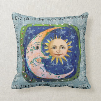 I Love You To The Moon & Back You Are My Sunshine Throw Pillows