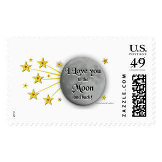 I Love You to the Moon First Class Postage Stamp
