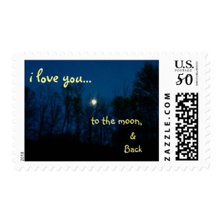 I love you to the moon Photograph of Blue Moon Postage