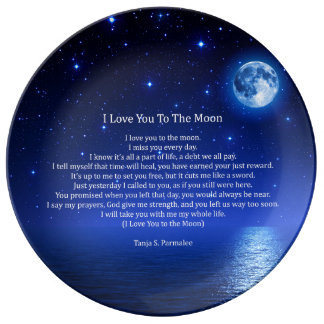 I Love You To The Moon Plate
