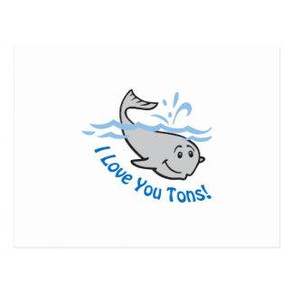 I LOVE YOU TONS POSTCARD