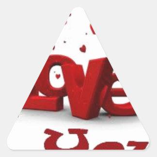 I love you triangle sticker