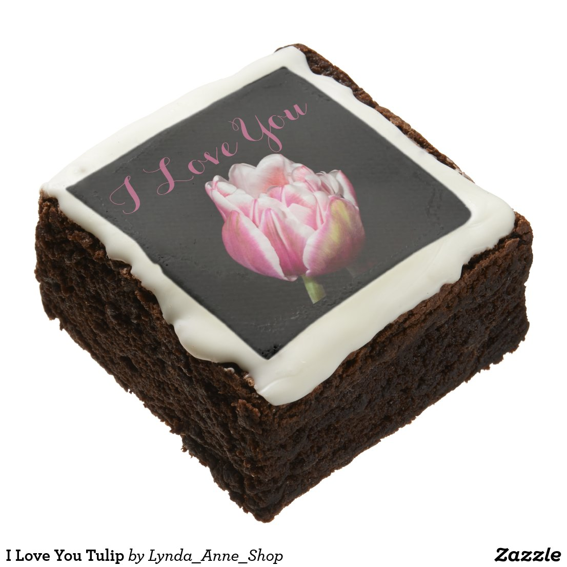 I Love You Tulip Brownie