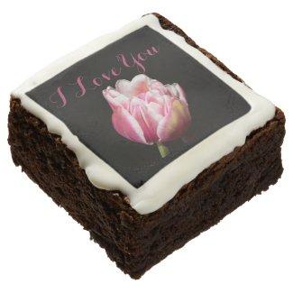 I Love You Tulip Brownie