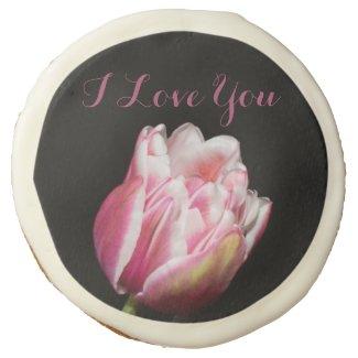I Love You Tulip Sugar Cookie