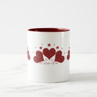 I Love You Two-Tone Coffee Mug