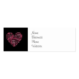 I Love You Typography Heart Valentine s Day Gift Business Cards