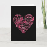 I Love You Typography Heart Valentine's Day Gift Cards
