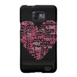 I Love You Typography Heart Valentine's Day Gift Galaxy SII Covers
