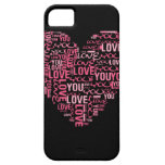 I Love You Typography Heart Valentine's Day Gift iPhone 5 Case
