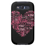 I Love You Typography Heart Valentine's Day Gift Samsung Galaxy SIII Cases