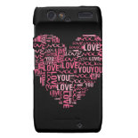 I Love You Typography Heart Valentine's Day Gift Droid RAZR Case