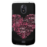 I Love You Typography Heart Valentine's Day Gift Samsung Galaxy Nexus Cover