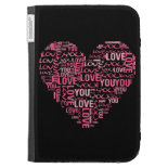 I Love You Typography Heart Valentine's Day Gift Kindle Case