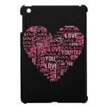 I Love You Typography Heart Valentine's Day Gift iPad Mini Cover