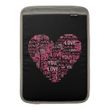 I Love You Typography Heart Valentine's Day Gift MacBook Sleeves