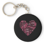 I Love You Typography Heart Valentine's Day Gift Key Chains