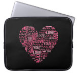 I Love You Typography Heart Valentine's Day Gift Computer Sleeve