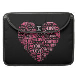 I Love You Typography Heart Valentine's Day Gift MacBook Pro Sleeve