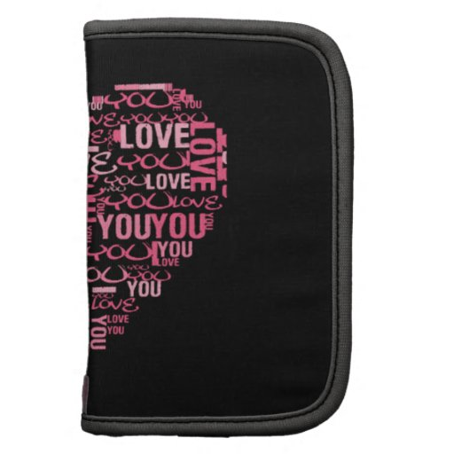 I Love You Typography Heart Valentine's Day Gift Organizers