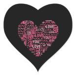 I Love You Typography Heart Valentine's Day Gift Sticker