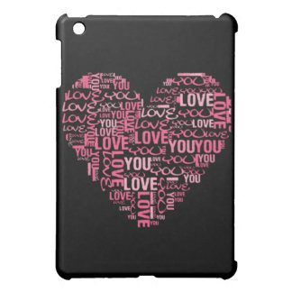 I LOVE You Typography Heart Valentine's Day Gifts iPad Mini Case