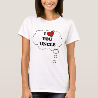I LOVE YOU UNCLE HEART BELLYTALK MATERNITY T-Shirt
