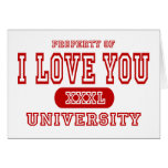 I Love You University Greeting Card