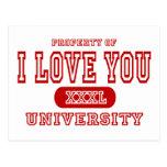 I Love You University Postcard