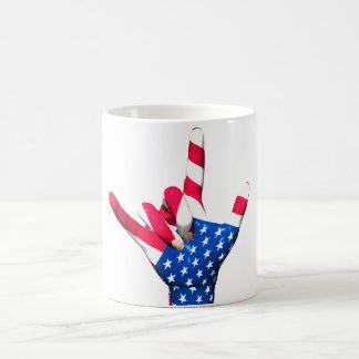 I Love You USA Flag Mug