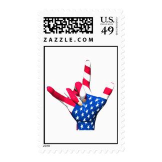 I Love You USA Flag Stamp