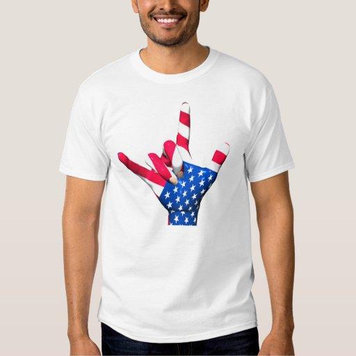 I Love You USA Flag T-Shirt