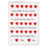 I Love You Valentine Card(Hugh Grant style,white)