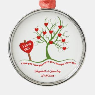 I love you Valentine's Day custom ornament