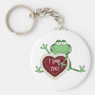 I Love You Valentine's Day Gift Basic Round Button Keychain