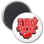 I Love You Valentine's Day Gift Fridge Magnets