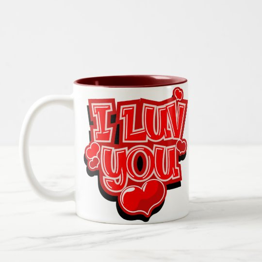 I Love You Valentine's Day Gift Two-Tone Coffee Mug
