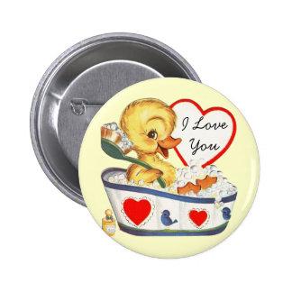 I Love You Vintage Valentine Pins