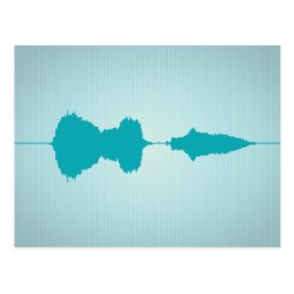 I Love You Waveform Postcard 1