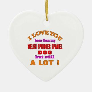 I love you Welsh Springer Spaniel Dog Ceramic Ornament